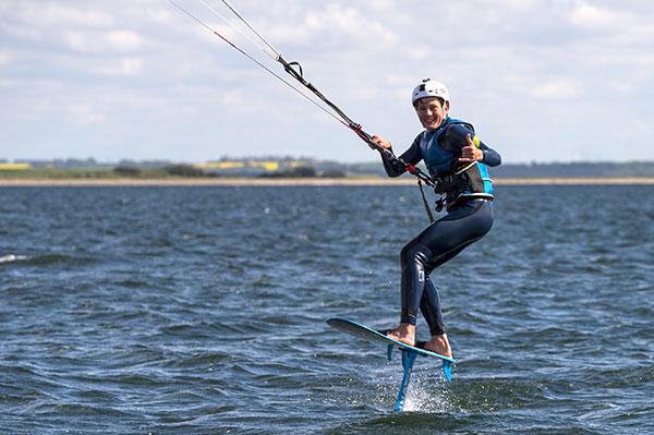 Efterskoleår med masser af kitesurfing